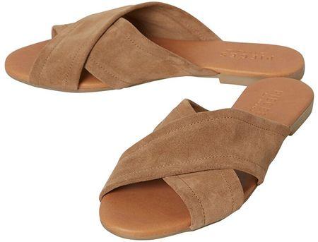 Pieces Női papucsok Marnie Suede Sandal Desert Taupe (méret 42)