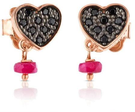 Tous Szív alakú fülbevaló kövekkel 314933510 ezüst 925/1000