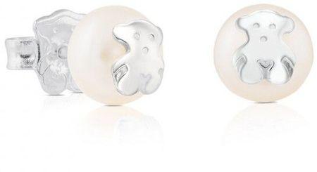 Tous Igazgyöngy fülbevaló medve díszítéssel 211140420 ezüst 925/1000