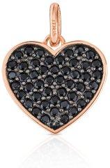 Tous Srdíčkový přívěsek s kamínky 414934510 stříbro 925/1000