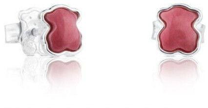 Tous Ezüst kis mackó fülbevaló ródonittal 915433620 ezüst 925/1000