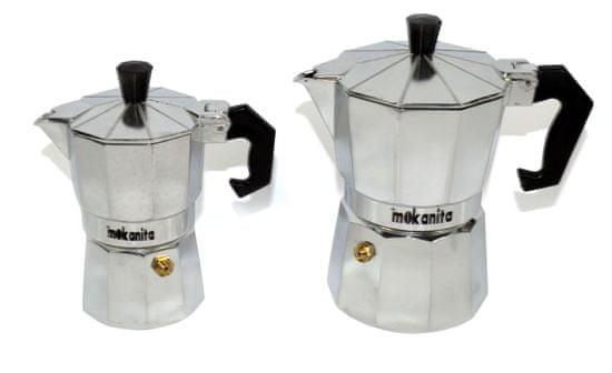 DUE ESSE Sada Mokanita 2 ks kávovarov, 1 a 3 šálky