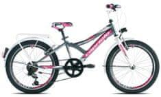 Capriolo Diavolo 200 City otroško kolo,11,5'', grafitno-roza