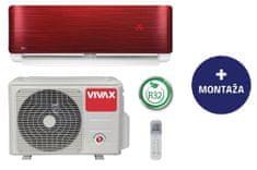 Vivax ACP-12CH35AERI, klimatska naprava, rdeča, z montažo