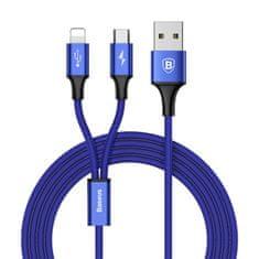 BASEUS Rapid 2u1 kabel za punjenje za microUSB, Lightning 3 A/1,2 m, tamno plavi CAML-SU13
