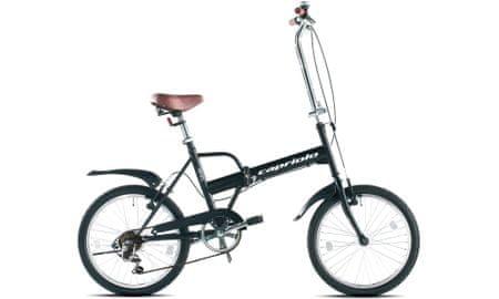 Capriolo Folding Bike Travel, zložljivo kolo, 15 '', črno