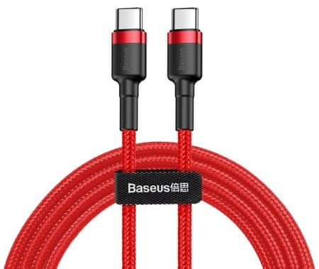 BASEUS Cafule podatkovni kabel Type-C PD 2.0/QC 3.0/60 W/20 V/3 A, 2 m, rdeč CATKLF-H09