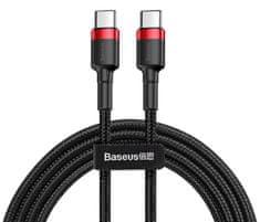 BASEUS Cafule Datový kabel Type-C PD 2.0/QC 3.0/60 W/20 V/3 A, 1 m, červeno-černá CATKLF-G91