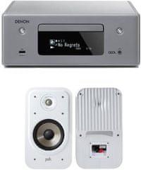 Denon RCD-N10 CEOL, šedý + Polk S20e, bílé