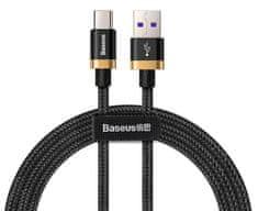 BASEUS Super Charge rychlonabíjecí kabel Type-C 40 W/QC 3.0/1 m, zlato-černá CATZH-AV1