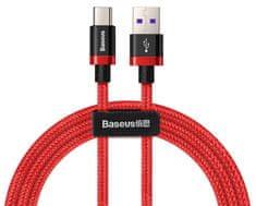 BASEUS Super Charge rýchlonabíjací kábel Type-C 40 W / QC 3.0 / 2 m, červená CATZH-B09