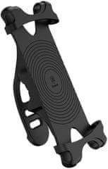 "BASEUS Miracle cyklistický silikonový držák telefonu 4-6"" SUMIR-BY01, černý"