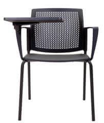 Emagra Jednací židle M5 - se stolkem plastová