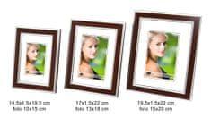 DUE ESSE Set 3 ks fotorámčekov dekor svetlé drevo, 10x15/ 13x18/ 15x20 cm