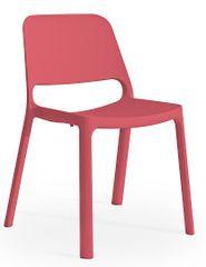 Emagra Jídelní plastová židle NUKE - červená