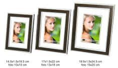 DUE ESSE Set 3 ks fotorámečků dekor tmavé dřevo, 10x15/ 13x18/ 15x20 cm