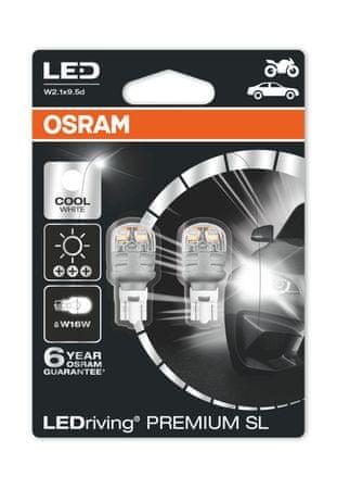 Osram LED W2,1x9,5d žarnica, 12V, 16W