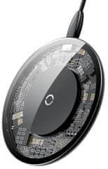 BASEUS bezprzewodowa ładowarka Qi Simple 2A/10W, przezroczysta CCALL-AJK01