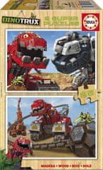Educa 2 Wooden Jigsaw Puzzles - Dreamworks - Dinotrux