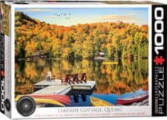 EuroGraphics Puzzle 1000 db Lakeside Cottage Quebec