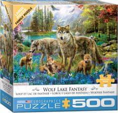 EuroGraphics Puzzle 500 db XXL db - Wolf Lake Fantasy