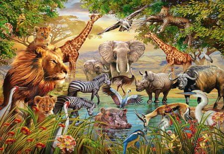 Ravensburger Puzzle 500 db Animals at the Waterhole