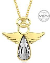 Levien Aranyozott nyaklánc kristály Angel Rafael