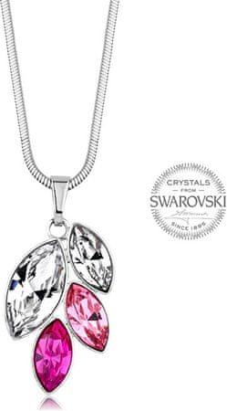 Levien Naszyjnik z różowymi kryształami Navette