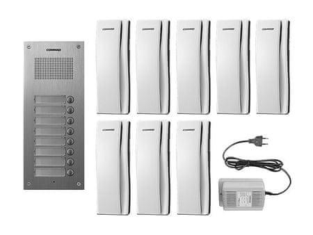 COMMAX DR-8UM/DP-SS/RF-1A, sada domácích telefonů pro 8 uživatelů, systém 4+n, vč. zdroje,