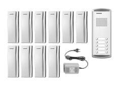 COMMAX DR-10AM/DP-SS/RF-1A, sada domácích telefonů pro 10 uživatelů, systém 4+n, vč. zdroje,