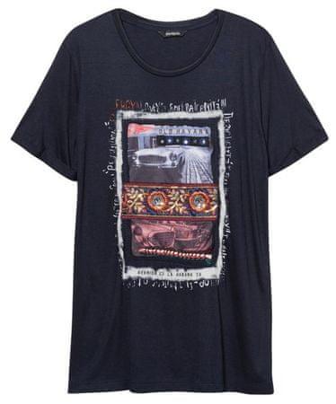 Desigual Ts Berlin ženska majica, S, tamnoplava