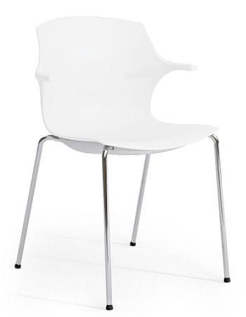 emagra Jídelní plastová židle FRILL - bílá