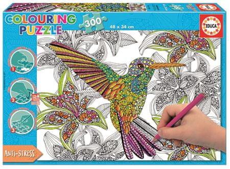 Educa barvna sestavljanka Kolibri, 300 delov