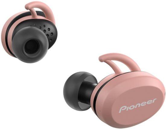 Pioneer SE-E8TW bezdrátová sluchátka, černá/růžová