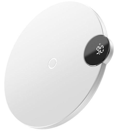 BASEUS Digital Led Display bezdrôtová Qi nabíjačka, WXSX-02, biela