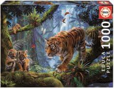 EDUCA slagalica Tigar na stablu, 1000 komada