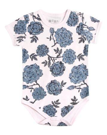 Nini dekliška obleka s cvetličnim vzorcem, 86, roza