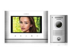 """COMMAX CDV-70M bílý/DRC-40K, sada 7"""" handsfree videotelefonu a kovové dveřní stanice,"""