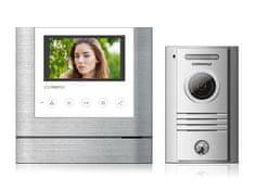 """COMMAX CDV-43M bílý/DRC-40K, sada 4.3"""" handsfree videotelefonu a kovové dveřní stanice,"""