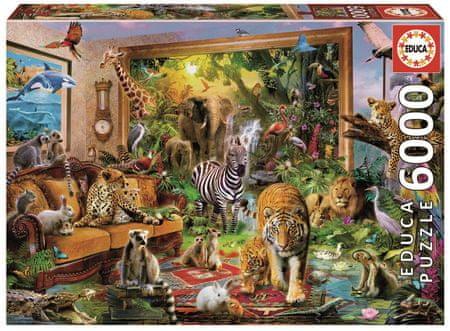 Educa Sestavljanka Divje živali, 6000 delov