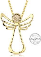 Levien Aranyozott nyaklánc Guardian Angel kristályával