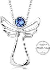 Levien Náhrdelník s modrým kryštálom Guardian Angel