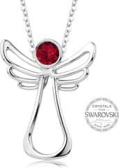 Levien Náhrdelník s červeným kryštálom Guardian Angel