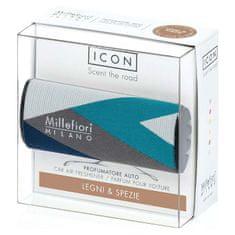 Millefiori Milano ICON vůně do auta Legni & Spezie, textilní potah Geometric 47 g