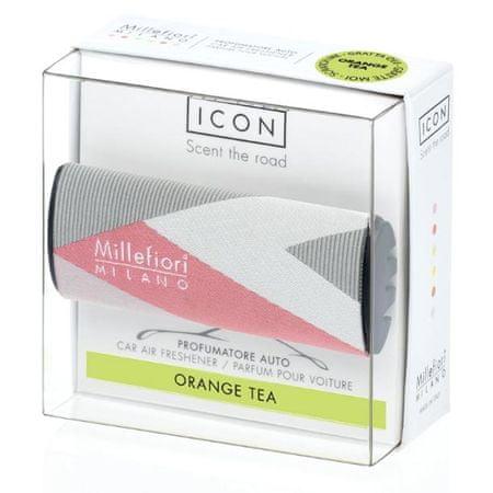 Millefiori Milano ICON vůně do auta Orange Tea, textilní potah Geometric 47 g