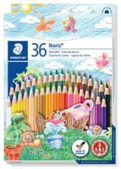 """Staedtler kolorowe kredki """"Noris Club"""", 36 kolorów, zestaw, sześciokątne, STAEDTLER"""