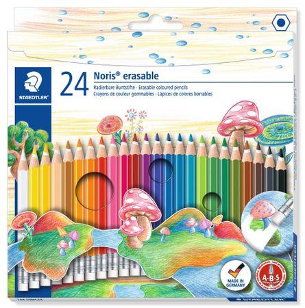 "Staedtler kolorowe kredki z gumką ""Noris Club"", 24 kolory, zestaw, sześciokątne, STAEDTLER"