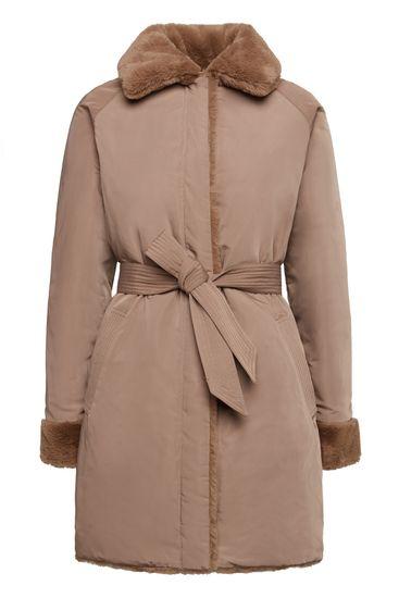 Geox dámsky kabát Kaula W9420Z TC127 F6187 XL hnedá