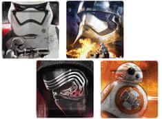 Talerze Gwiezdne wojny BB-8, Szturmowiec, Kylo Ren i płytki plazmowe (zestaw 4 sztuk)