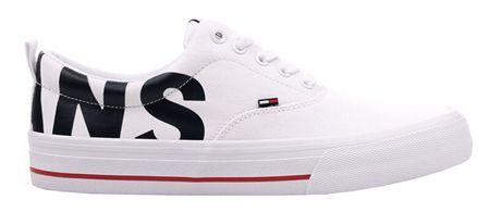 Tommy Hilfiger Pánské tenisky Logo Printed Lace Up Closure Round Toe Sneakers EM0EM00258-100 (Velikost 44)